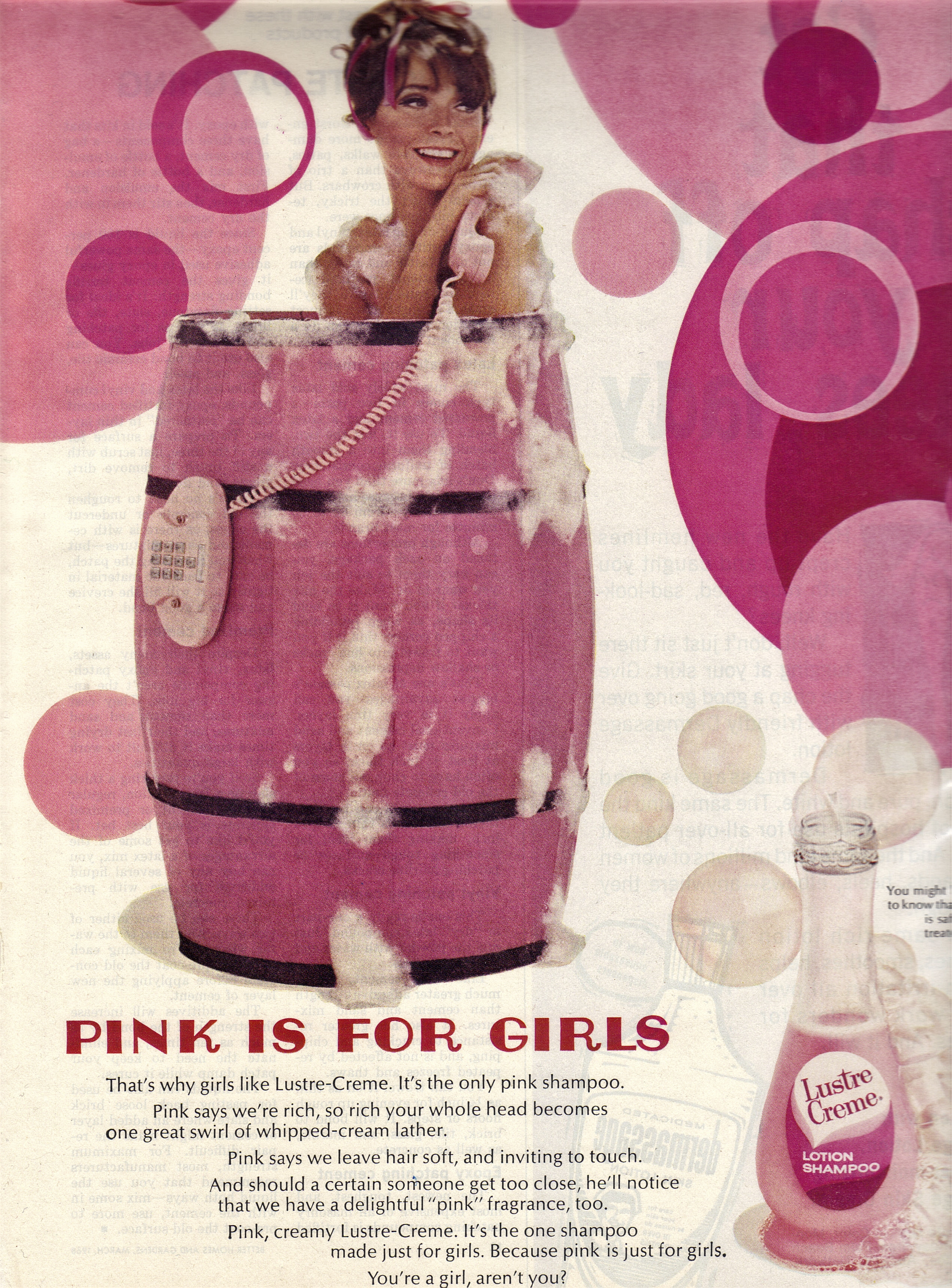 Vintage bathroom ads - This Ad Is Hanging On The Wall Of My Prodominately Pink Bathroom I Don T Hate Pink By Any Means But I Was A Bit Set Off At The Bathroom