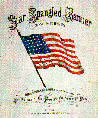 the star spangled banner representation