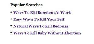kill bordom
